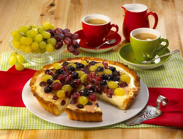 Obst-Pudding-Tarte Rezept