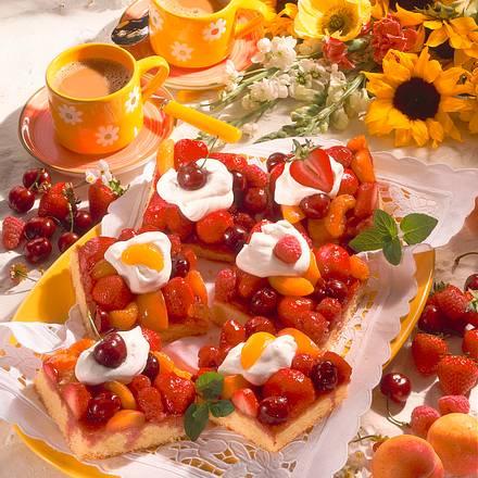 Obstkuchen vom Blech Rezept