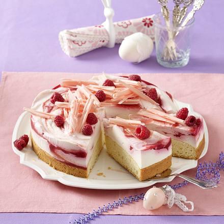 Österliche Himbeer-Frischkäse-Torte Rezept