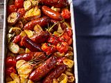 Ofen-Chorizo mit Kartoffeln und Tomaten Rezept