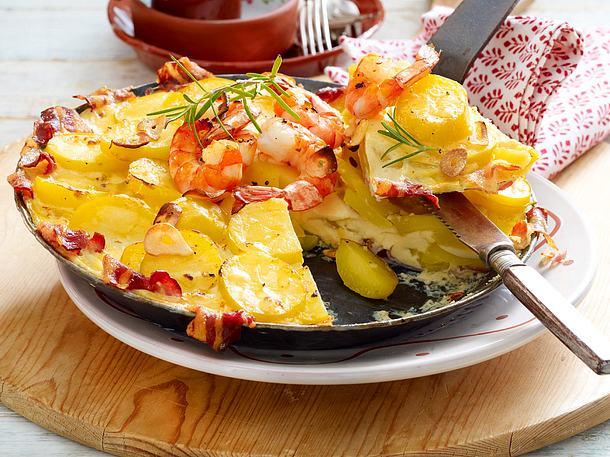 Ofen-Tortilla mit Garnelen Rezept