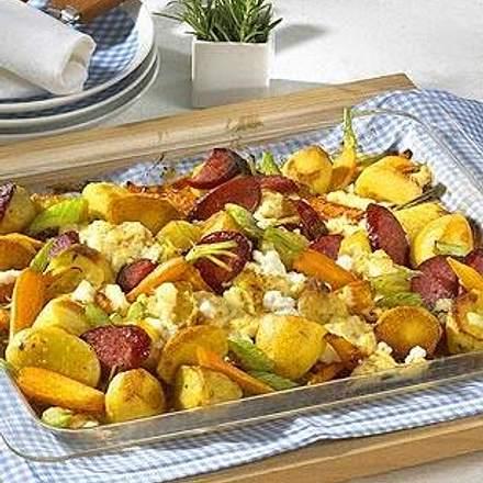 Ofen-Gemüse mit Cabanossi Rezept
