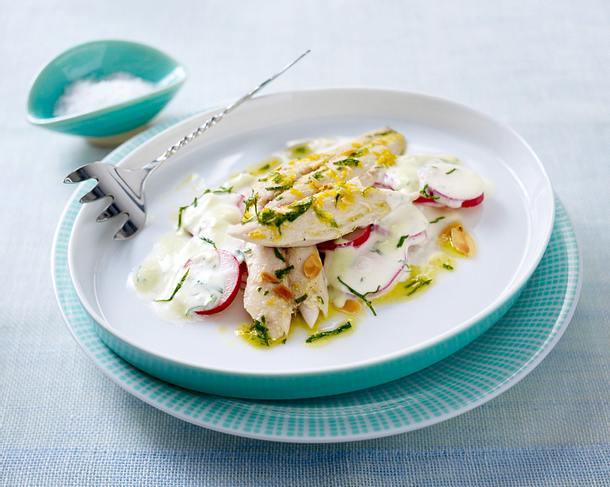 Ofen-Makrele auf scharfem Radieschensalat Rezept