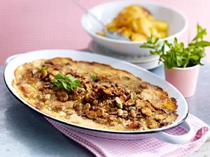 Ofen-Schlemmerschnitzel zu Bratkartoffeln Rezept