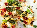 Ofenfrittata mit Spinat und Ricotta rezept