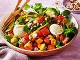 Ofengemüse-Salat mit Mozzarella Rezept