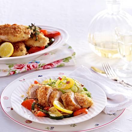 Ofenhähnchenfilet mit Kartoffelsalat Rezept