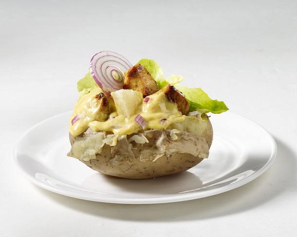 Ofenkartoffel mit Hähnchen-Curry Rezept
