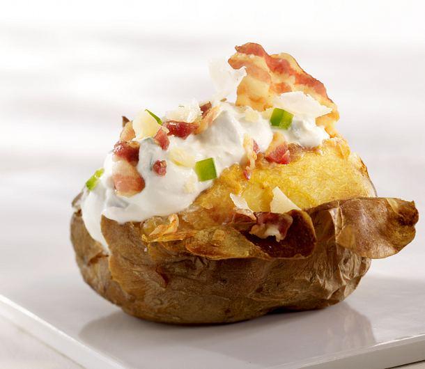 Ofenkartoffel mit Speck, Ricotta, Paprika und Parmesan (4 mal anders) Rezept