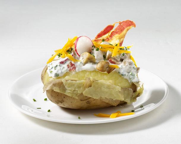 Ofenkartoffel mit Speck und Pilzen Rezept