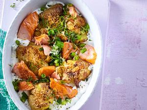 Ofenkartoffel mit Stremellachs Rezept