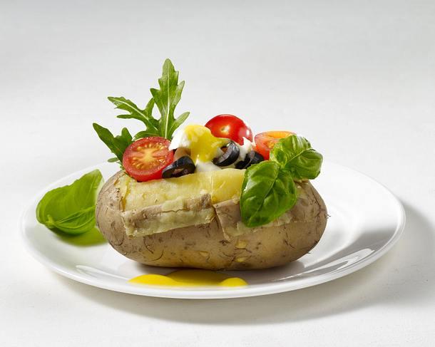 Ofenkartoffel mit Tomate-Mozzarella Rezept