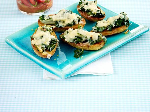 Ofenkartoffeln mit Mangold-Käse-Haube Rezept