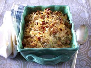 Ofenreis mit Sauerkraut und Mett Rezept