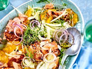 """Oh, mega!""-Lachsfilet auf Orangen-Fenchel-Salat Rezept"