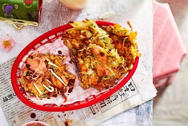 Okonomiyaki herzhafte Pfannkuchen Rezept