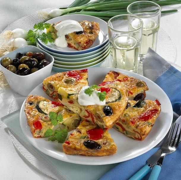 Oliven-Käse-Tortilla Rezept