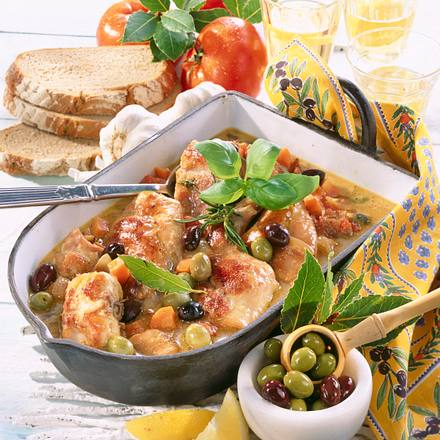 Oliven-Kaninchen Rezept