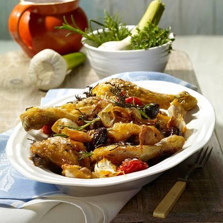 Oliven-Knoblauch-Hähnchen Rezept