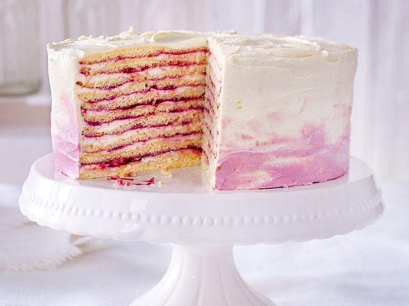 Ombre-Milchmädchen-Torte Rezept