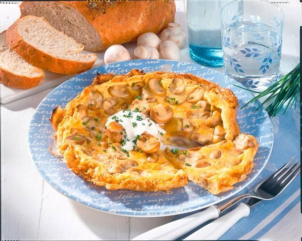 Omelett Funghi Rezept