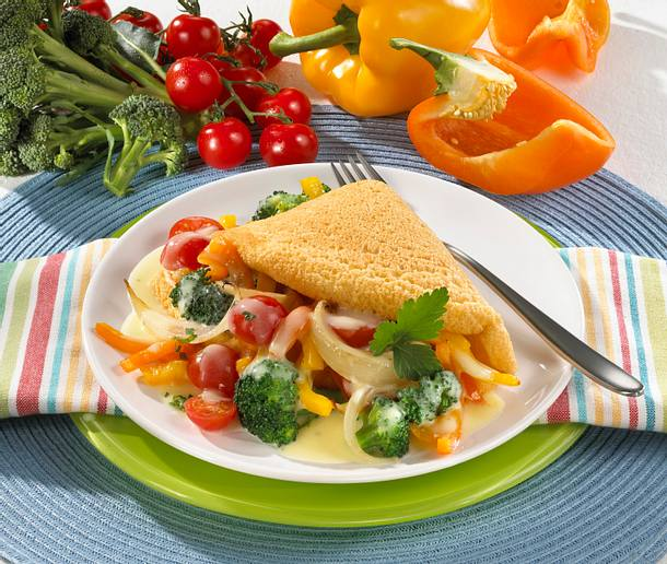 Omelett mit Gemüsefüllung Rezept