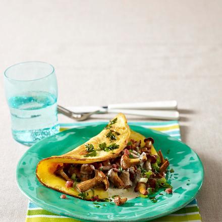 Omelett mit Pfifferlingfüllung Rezept