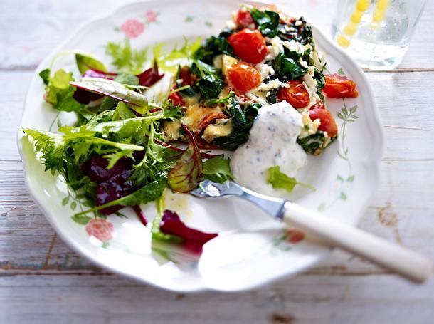 Omelett zu Salat Rezept