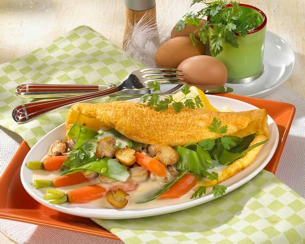 Omelette mit leichtem Frühlings-Ragout Rezept