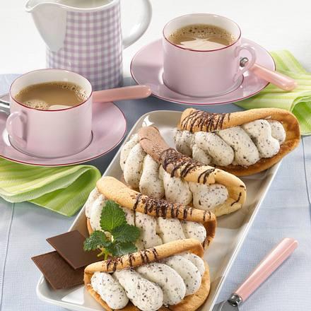 Omeletts mit Stracciatella-Sahne (Diabetiker) Rezept