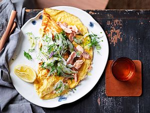 Ommm-Omelett mit Lachs und Fenchelsalat Rezept
