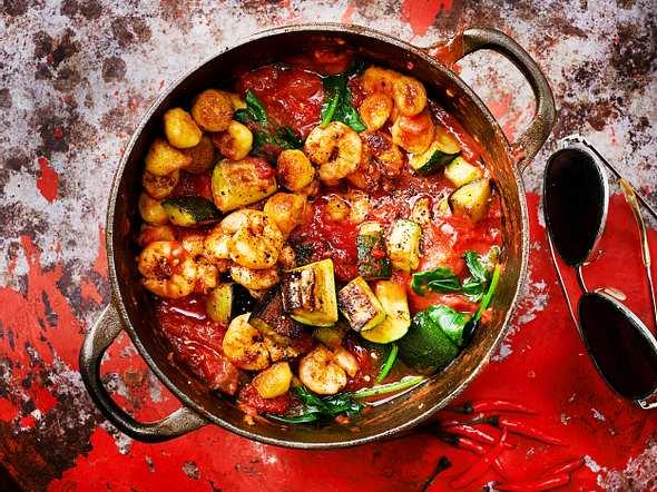 One-Pot-Gnocchi mit Garnelen Rezept