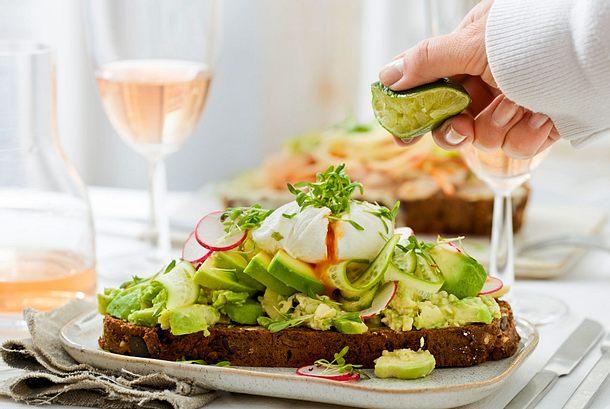 Open-Avocado-Sandwich Rezept