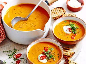 """""""Orange is the New Soup"""" auf Linsen-Basis Rezept"""