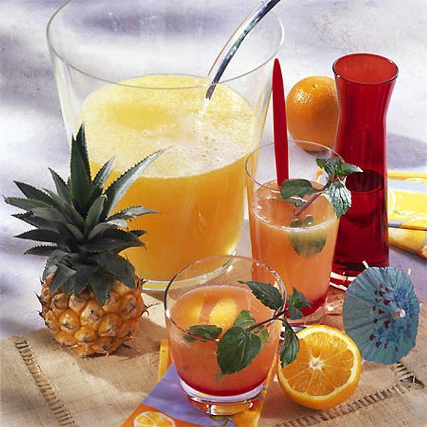 """Orangen-Bowle """"Tequila-Sunrise"""" Rezept"""