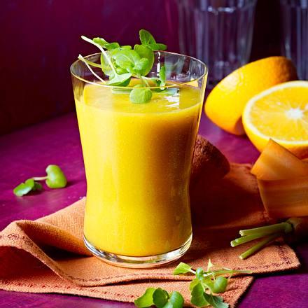 Orangen-Brunnenkresse-Smoothie Rezept