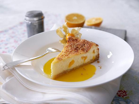 Orangen-Cheesecake mit Mangosoße Rezept