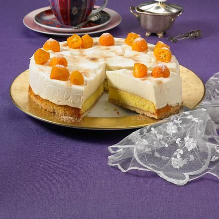 Orangen-Eierpunsch-Torte Rezept