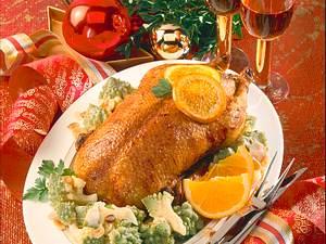 Orangen-Ente mit Romanesco Rezept