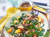 Orangen-Feldsalat mit Geflügelleber Rezept