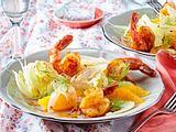 Orangen-Fenchel-Salat mit Garnelen Rezept