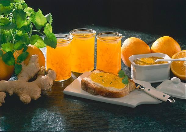 Orangen-Gelee mit Ingwer Rezept