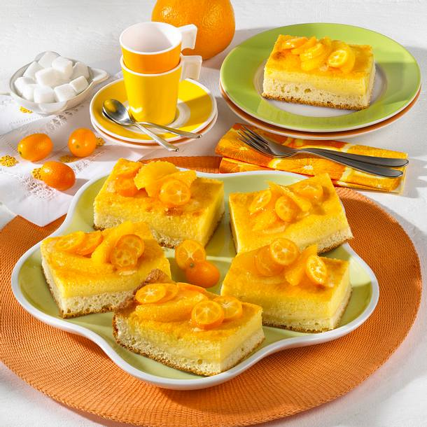 Orangen-Grieß-Kuchen Rezept