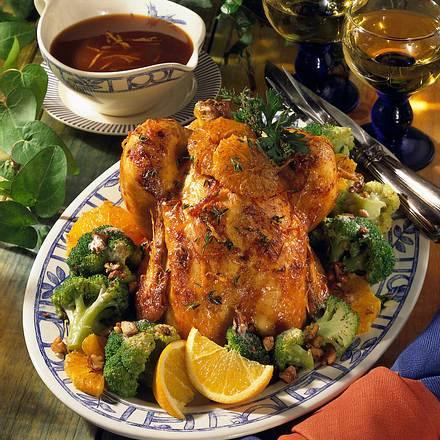 Orangen-Hähnchen mit Broccoli-Gemüse Rezept