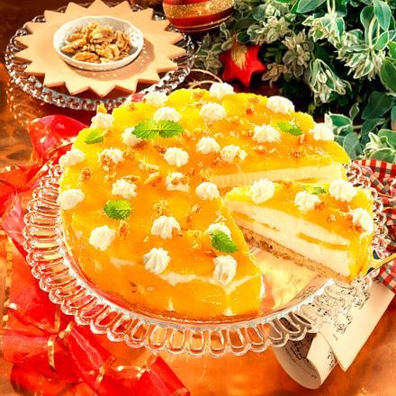 Orangen-Käse-Sahnetorte Rezept