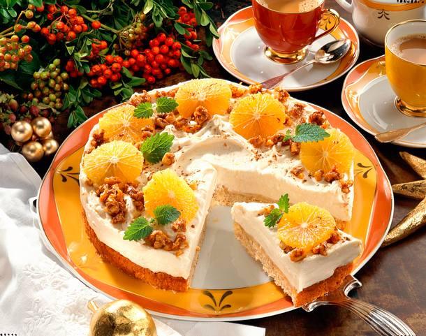 Orangen-Krokant-Torte Rezept