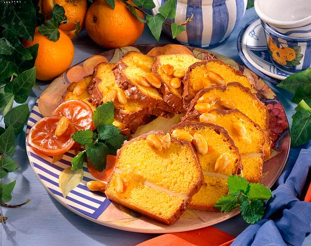 Orangen-Marzipan-Kuchen Rezept
