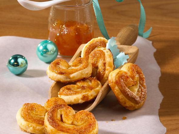 Orangen-Marzipan-Schweineohren Rezept