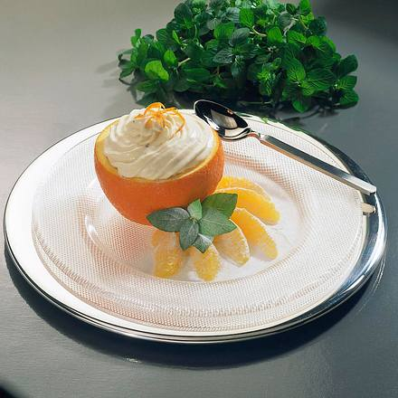 Orangen-Minz Parfait Rezept