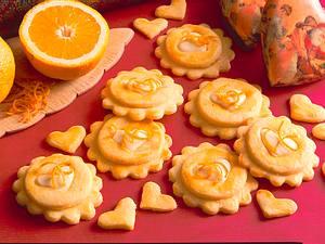 Orangen-Mürbeteigplätzchen Rezept